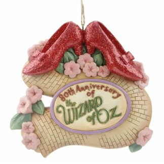 Otto's Granary Wizard of Oz 80th Ruby Slippers Ornament by Jim Shore