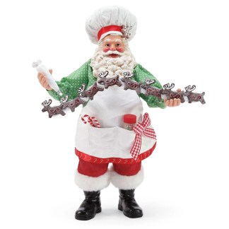 Otto's Granary Santa's 8 Tiny Reindeer Cookie - Bon Appetit Figurine by Possible Dreams