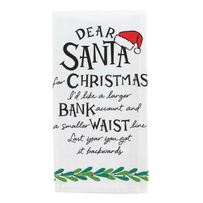 Otto's Granary Dear Santa Larger Bank Wine is Towel Entertainment by Izzy and Oliver