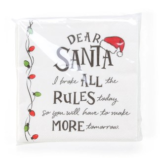 Otto's Granary Dear Santa Rules Napkins Entertainment by Izzy and Oliver