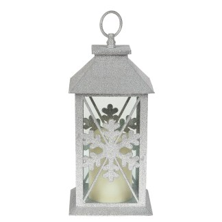 Otto's Granary Silver Snowflake Lantern by Xmas Basics
