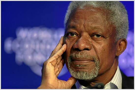Kofi Annan, hoe spreekt hij? De speech geanalyseerd