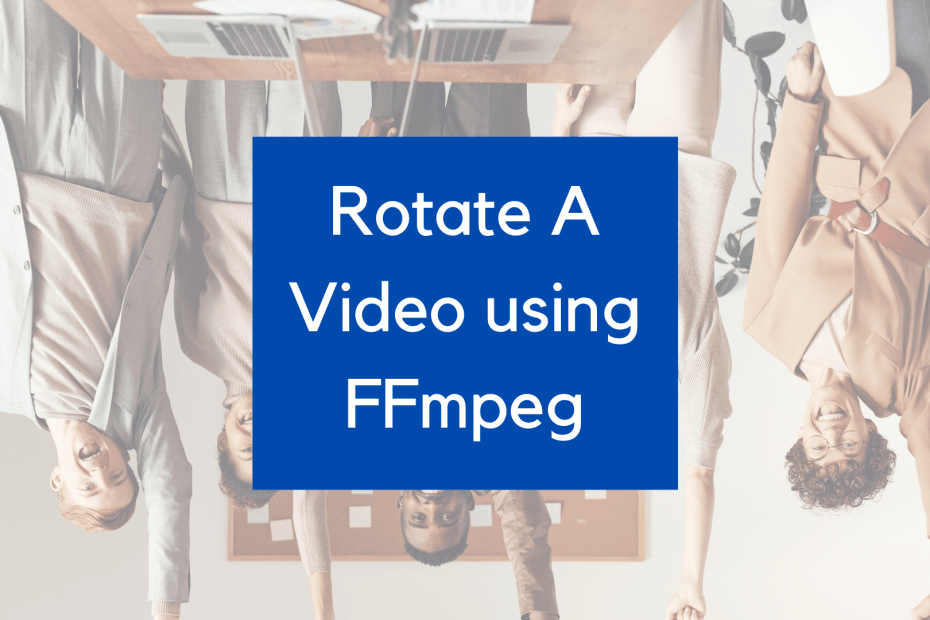rotate a video using ffmpeg