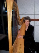 Susan playing at a Midtown office highrise December 2010