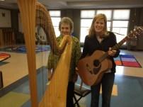 Susan's harp demo at Winnona Park Elementary and Martha Tepper, School Music Teacher 4/15