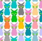 Minky Way Fabrics Color Cats