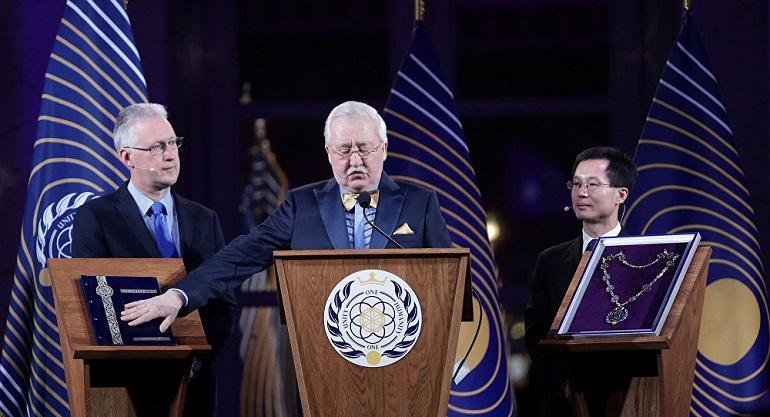 Igor Ashurbeyli Asgardia Devlet Başkanı Seçildikten sonra Konuşma Yapıyor