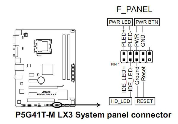 P5g41t m lx3 инструкция