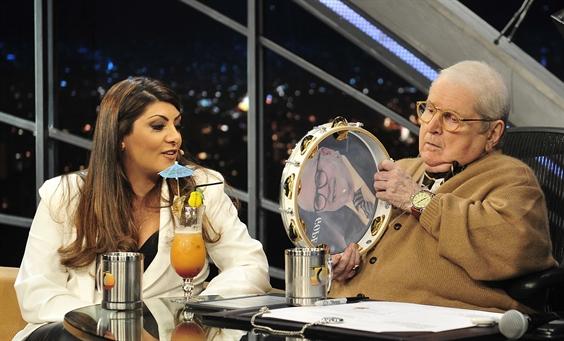 Jô Soares entrevista Patrícia Liberato (Foto: Globo/Reinaldo Marques)