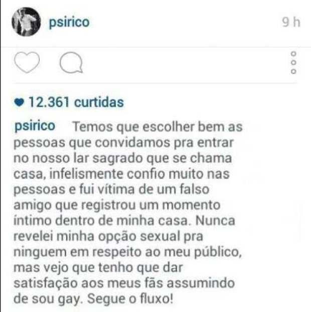 Vocalista do Psirico, Márcio Victor desabafa em rede social (Foto: Reprodução/ Instagram - via Fabíola Reipert)