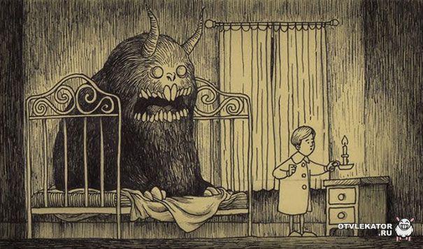 рисунки монстров из ночных кошмаров