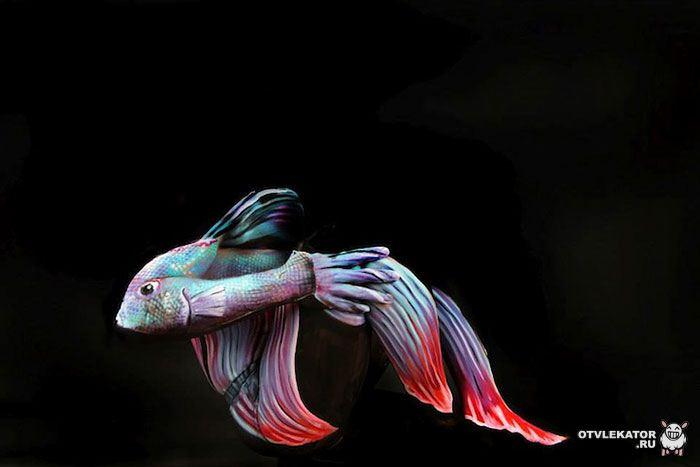 боди-арт рыба
