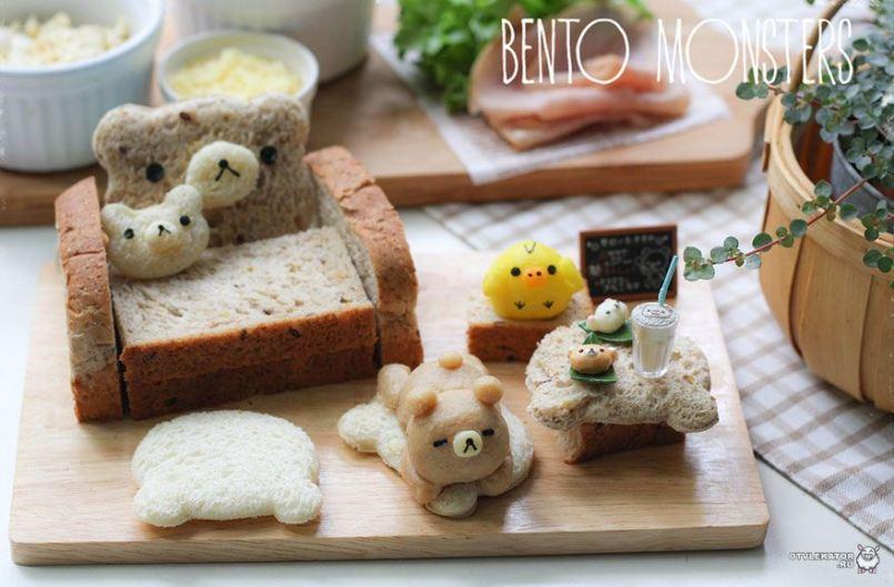 бутерброды семья медведей