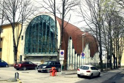 Nowoczesne wydanie synagogi - okolice Art Muzeum
