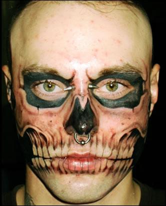 Face Skull Tattoo : skull, tattoo, Skull, Tattoo:, World's, Craziest, Tattoo?