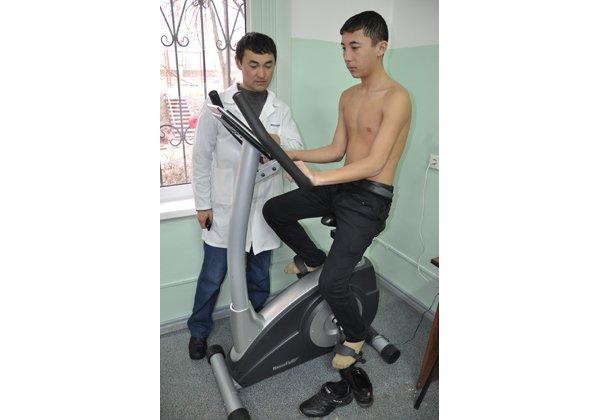 Проверка физического состояния спортсмена