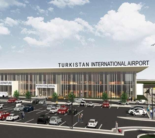 Международный аэропорт в г. Туркестан