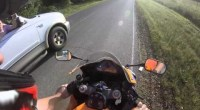 Faut pas tenter d'écraser un motard