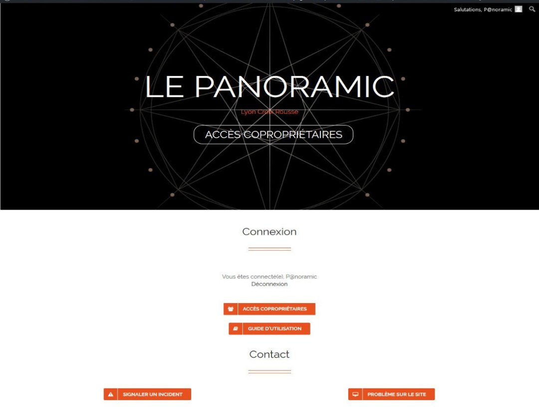 Conciergerie numérique résidence Panoramic