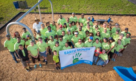 OUC Employees Help Spruce Up Children's Safety Village During Earth Month