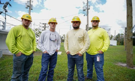 4 Grads of Valencia Powerline Tech Class Join OUC