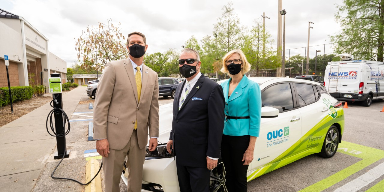 OUC, CITY ACTIVATE 100 EV CHARGERS