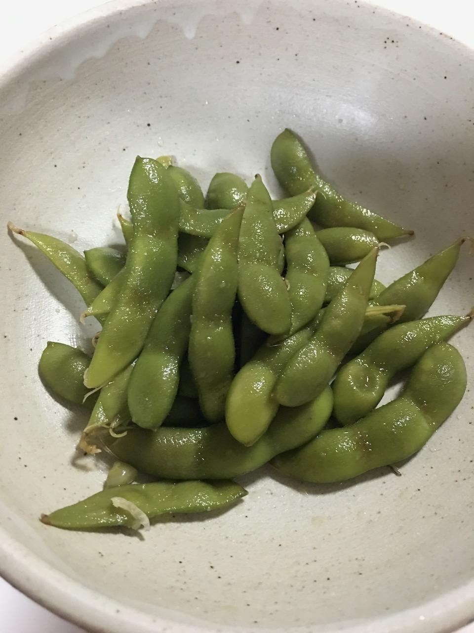 枝豆のにんにく醤油漬け