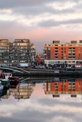 The Grand Canal Basin on a still morning, a view I'm often blessed with when I reach my morning's work destination...