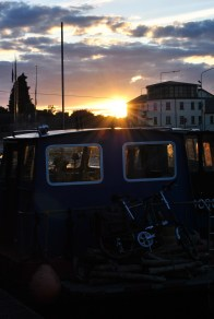 Sunset at Kilcock Harbour, Royal Canal, Ireland