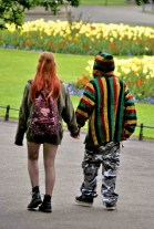 Colour in the park! Hot love...