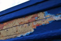 Pealing paint... fisher boat detail