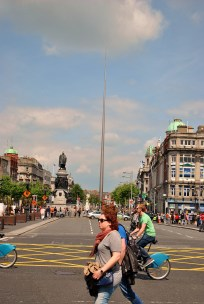 O'Connell Street, the Spire and sunshine!