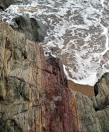 Colour and texture... wave beaten rocks, south of Courtown, Co Wexford, Ireland