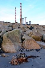 The Poolbeg Twins dwarf the 4 other stacks... Dublin, Ireland