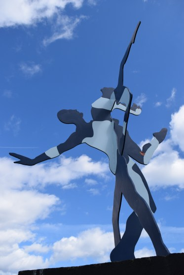 Dan McCarthy designed a sculpture called 'Cutout People'... to be found in Dublin's Blackrock Park