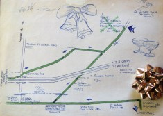 The map! X marked the spot where the wedding happened... almost 25 years ago!!