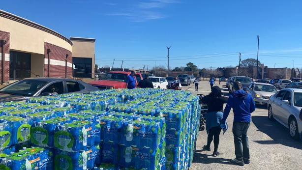 Oakwood University Church and Breath of Live TV Ministry hold a water bottle donation drive for residents of Texas, who are struggling to recover after historic winter weather plunged temperatures below freezing, putting Texans lives in peril as power outages and water service disruptions affected millions. Photo provided by Oakwood University Church
