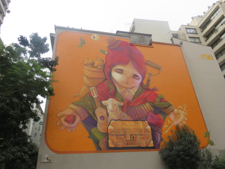 Street art Graf mural Santiago de Chile