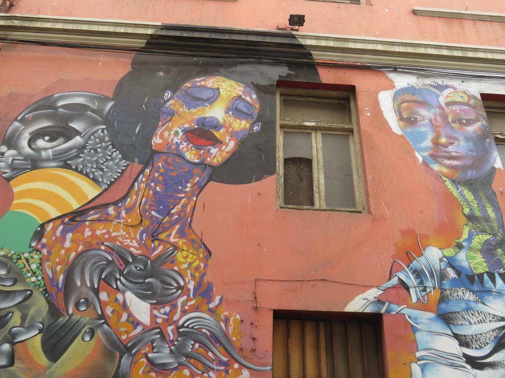 Street Art Graf mural Valparaiso Chilo