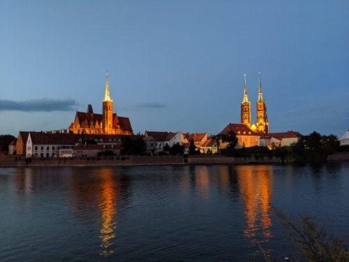 Worclaw de nuit Pologne