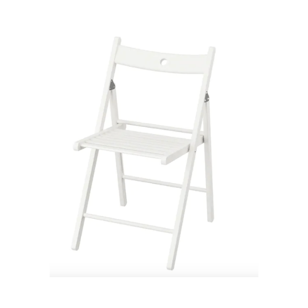 Location chaise pliante en bois blanche
