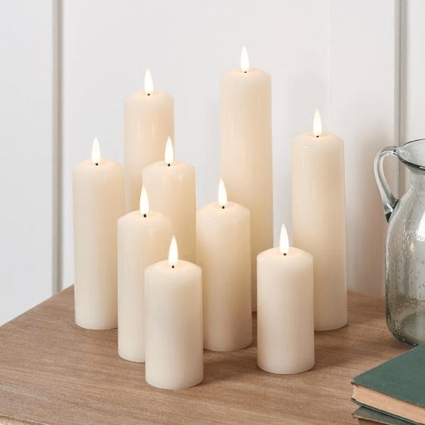 Bougie LED décoration mariage