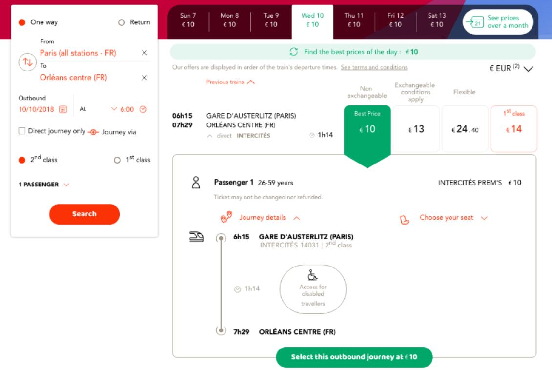 Intercités 法國火車