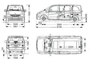 Dimension du mercedes vito