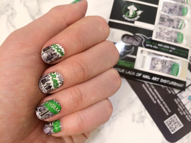 ECCC Exclusive Nail Wraps by Espionage Cosmetics