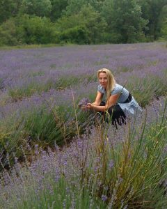 Visiting a lavender farm in the Luberon, Provence, France