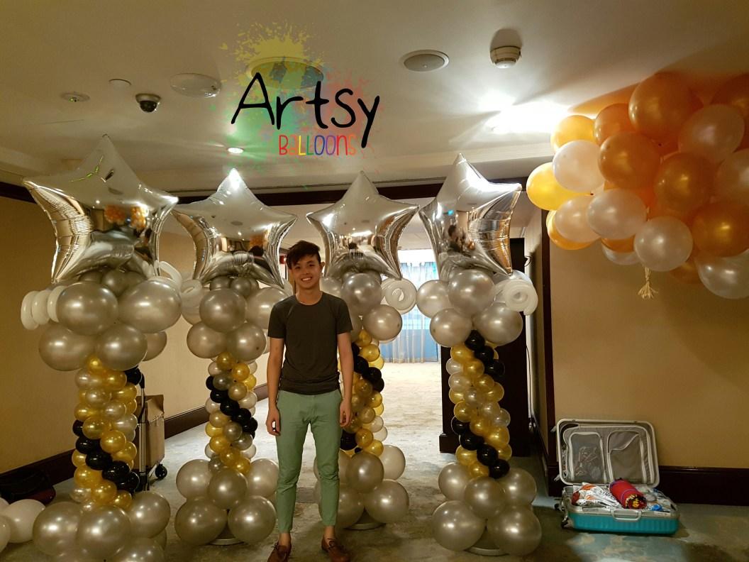 Balloon decoration ideas singapore balloon decoration for Balloon decoration ideas youtube
