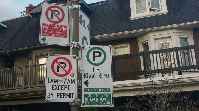 parkingsigns toronto