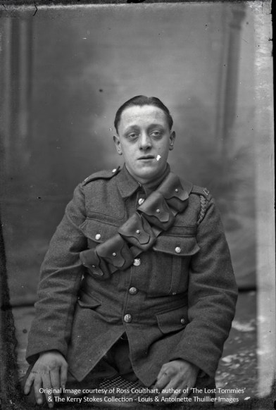 A rather tired looking soldier from the Army Service Corps
