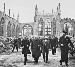 The Prime Minister Winston Churchill visits the devastation